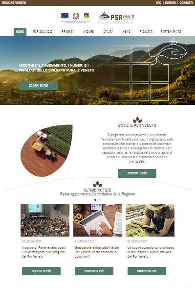 Online il nuovo sito del PSR Veneto