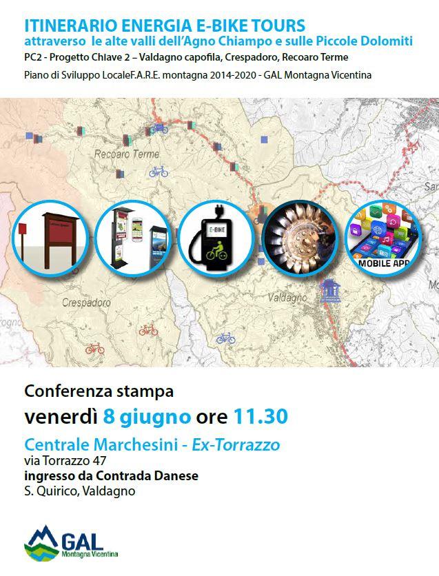 """CONFERENZA STAMPA PROGETTO CHIAVE 2 """"ITINERARIO ENERGIA E-BIKE TOURS"""""""