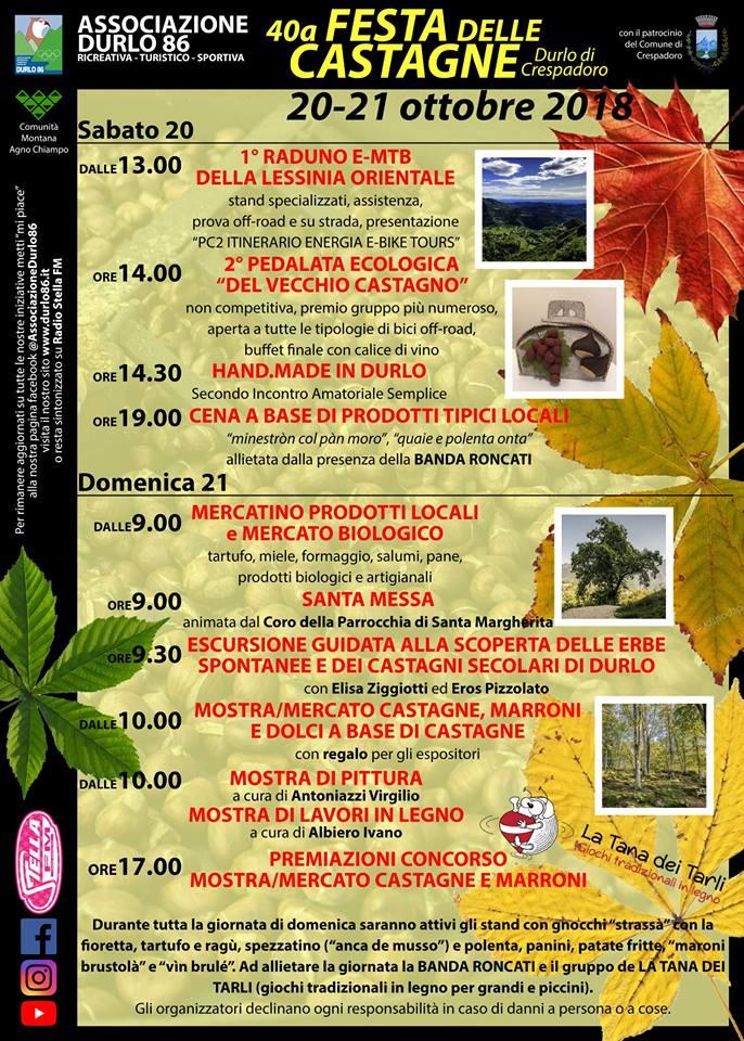 """40° FESTA DELLE CASTAGNE – PRESENTAZIONE PROGETTO CHIAVE 2 """"ITINERARIO ENERGIA E-BIKE TOURS"""""""