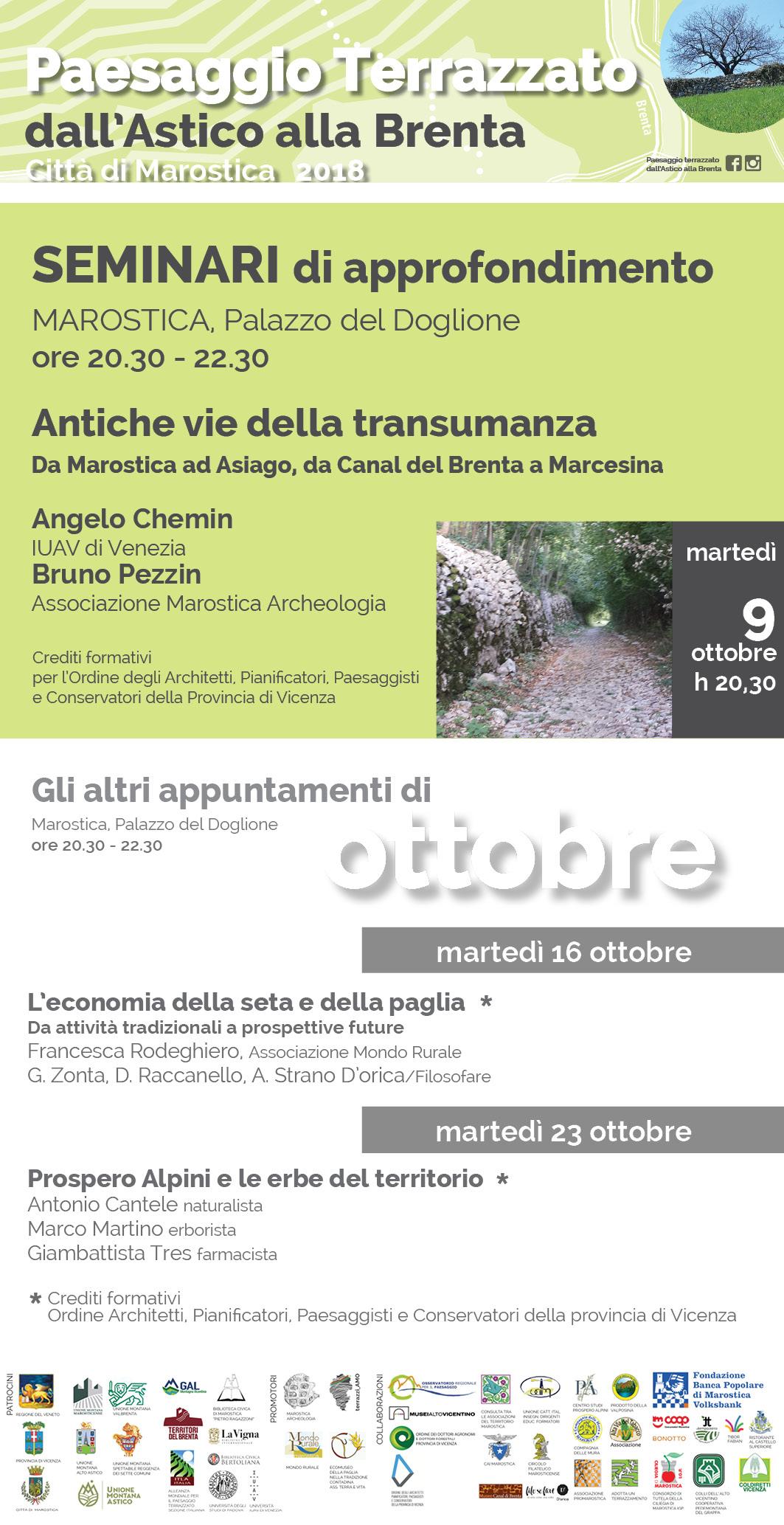 Paesaggio Terrazzato dall'Astico alla Brenta: Seminari di approfondimento