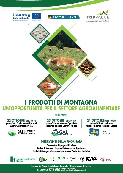 Seminario di presentazione del Progetto TOP VALUE Programma Interreg V-A Italia – Austria 2014-2020