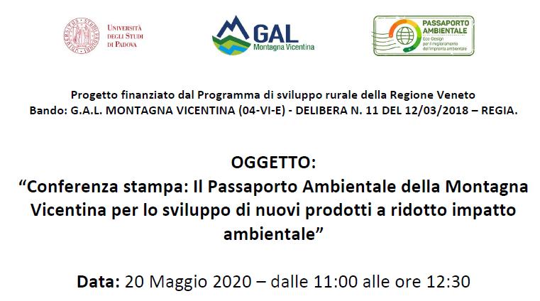 Il Passaporto Ambientale della Montagna Vicentina per lo sviluppo di nuovi prodotti a ridotto impatto ambientale