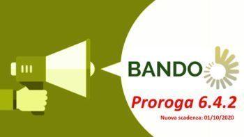 PROROGA SCADENZA BANDO PER TIPO DI INTERVENTO 6.4.2